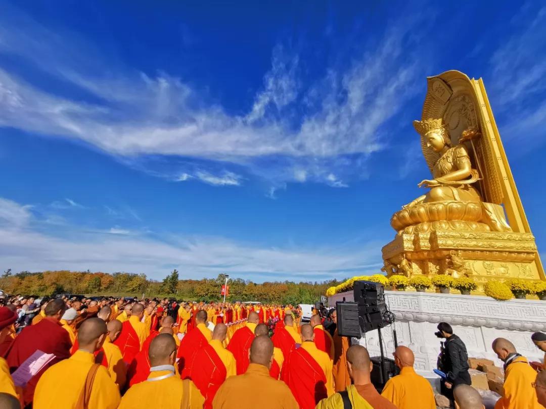 教界法讯 | 中国五台山佛教代表团应邀出席加拿大五台山大雄宝殿