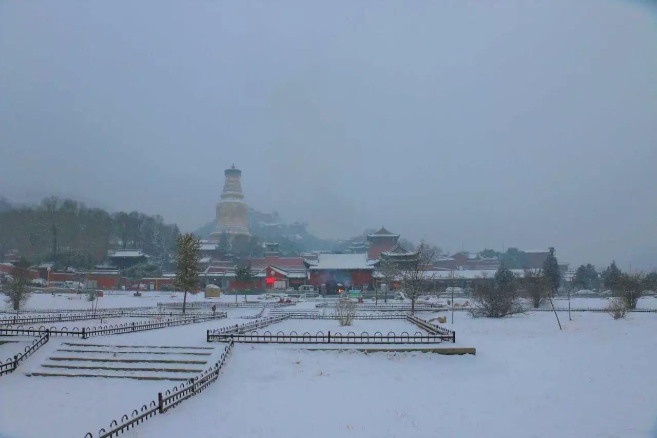 五台山雪景